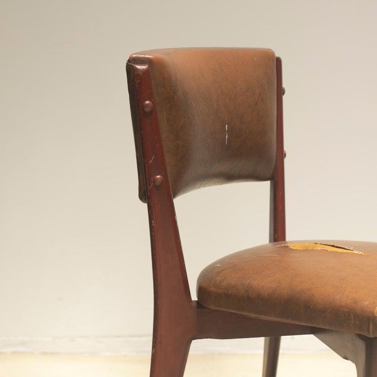 "Lina Bo Bardi ""C12"" Dining Chair for Studio d´Arte Palma, circa 1950 For Sale 3"