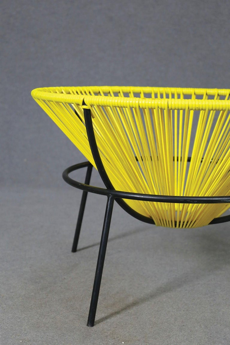 Mid-Century Modern Lina Bo Bardi Midcentury Bowl Chair in Iron and Plastic, 1950s For Sale