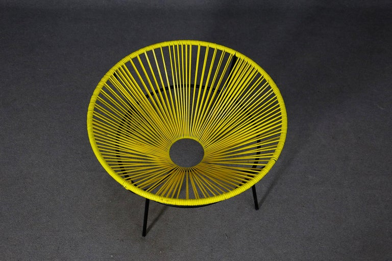 Lina Bo Bardi Midcentury Bowl Chair in Iron and Plastic, 1950s In Good Condition For Sale In Milano, IT