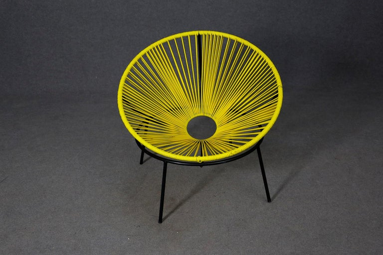 Mid-20th Century Lina Bo Bardi Midcentury Bowl Chair in Iron and Plastic, 1950s For Sale