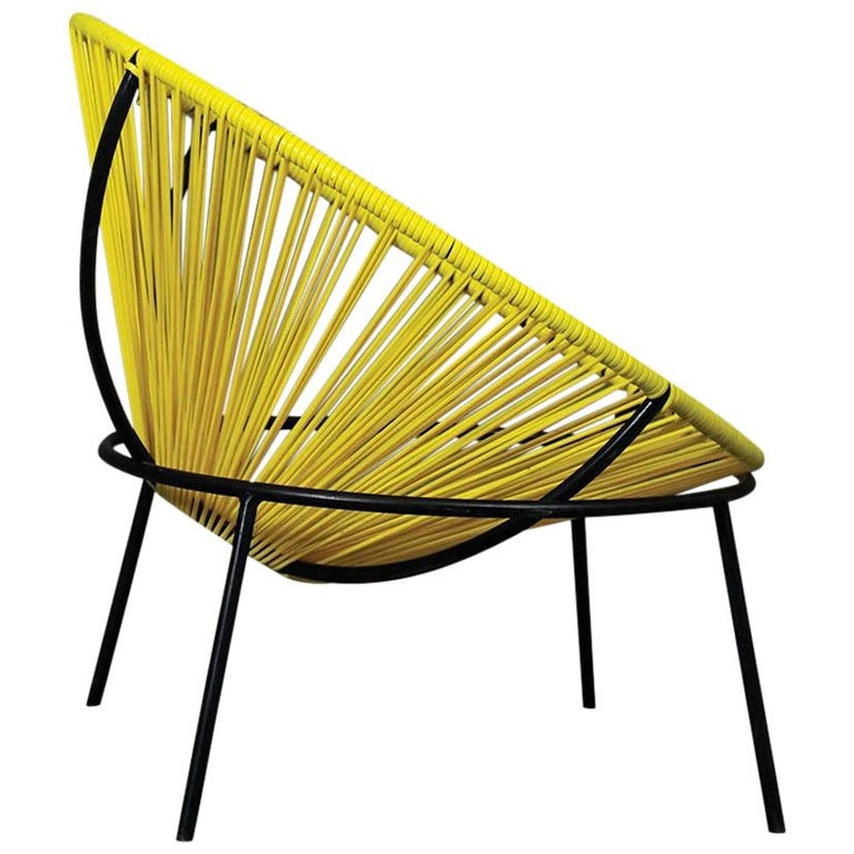 Lina Bo Bardi Midcentury Bowl Chair in Iron and Plastic, 1950s For Sale