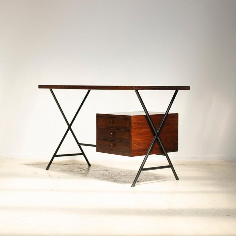 Lacquered Lina Bo Bardi Writing Desk for Studio d'Arte Parma For Sale