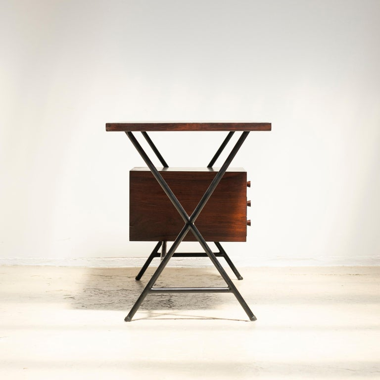 Steel Lina Bo Bardi Writing Desk for Studio d'Arte Parma For Sale