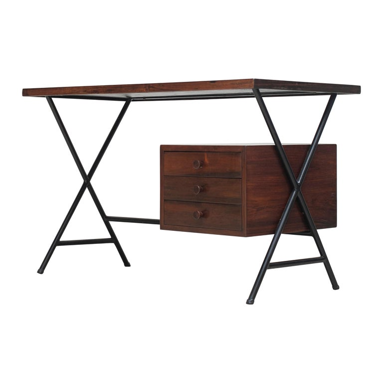 Lina Bo Bardi Writing Desk for Studio d'Arte Parma For Sale