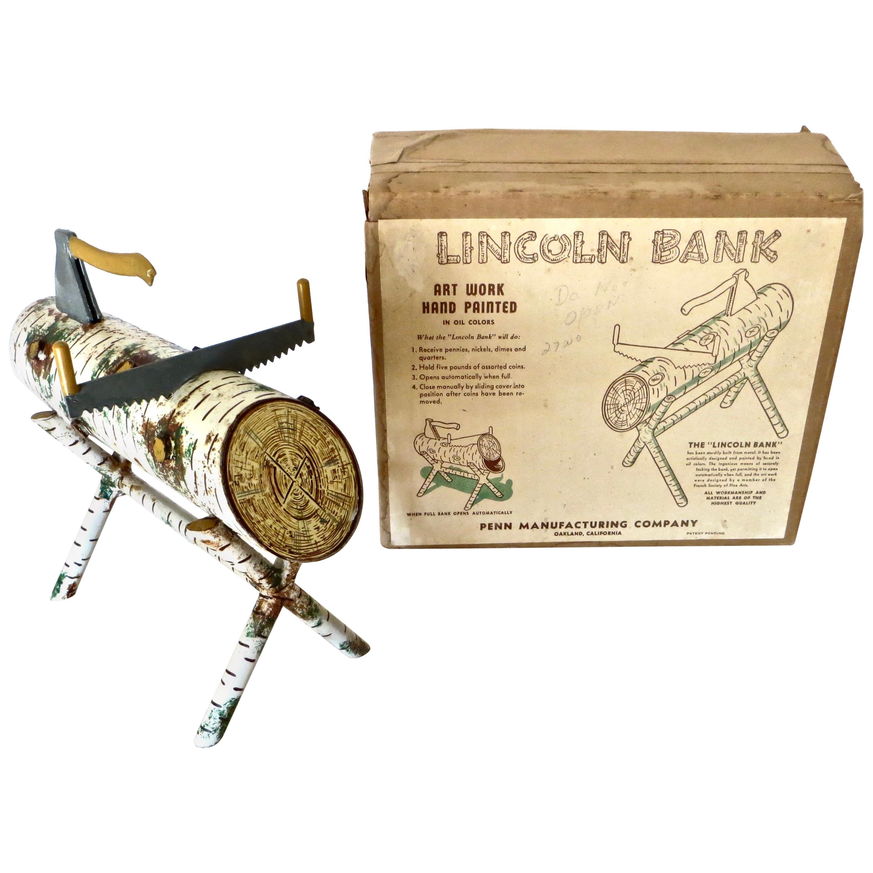 """Lincoln Bank"" Still Toy Savings Bank, American, circa 1950"