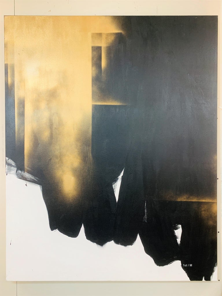 Study of light and darkness painting - Large contemporary abstract painting - Contemporary Painting by Lincoln Grey