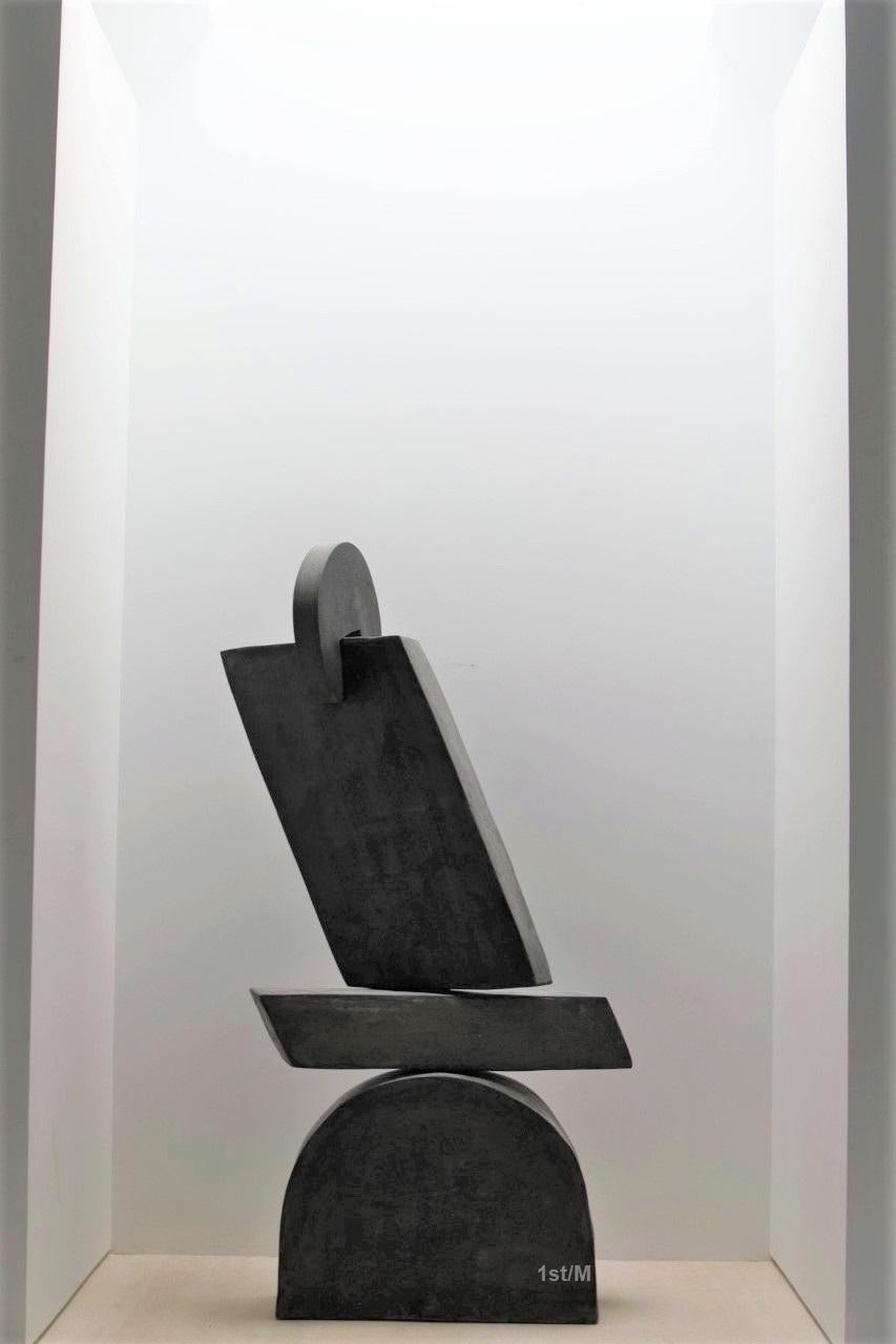 Large Statement Abstract Contemporary Sculpture - Dark Gray