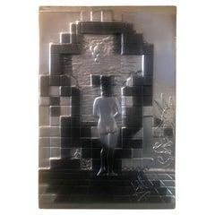 """Lincoln in Dalivision"" Platinum Edition Bas Relief Plaque by Salvador Dali"