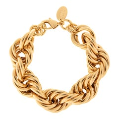 Linda 24kt gold plated brass brecelet