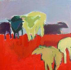 Dutch Sheep, Acrylic Painting on Canvas