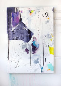 Betwixt I, Acrylic, Oil, Graphite, Spray Paint on Canvas, Signed