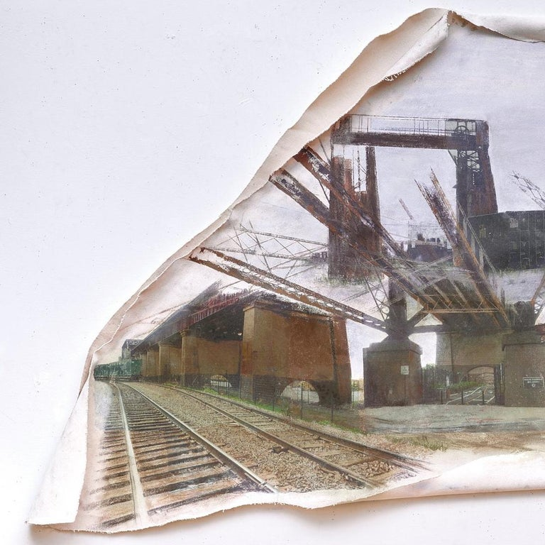 Linda Cunningham, 'Randall's Island Connector', Pastel, Found Objects, Canvas  - Post-Modern Mixed Media Art by Linda Cunningham