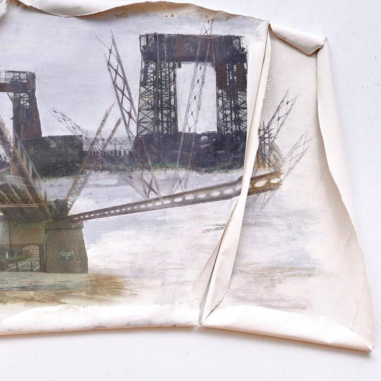 Linda Cunningham, 'Randall's Island Connector', Pastel, Found Objects, Canvas  For Sale 1