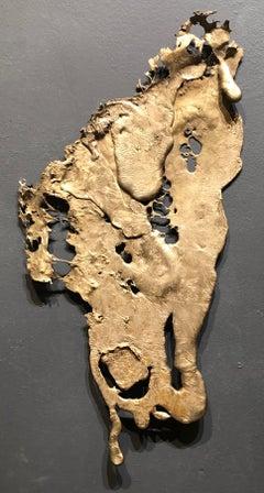 Linda Cunningham, Altered Currents 1, Sand-Cast Bronze Natural Patina, 2016-2018