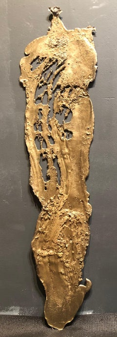Linda Cunningham, Altered Currents 2, Sand-Cast Bronze Natural Patina, 2016-2018