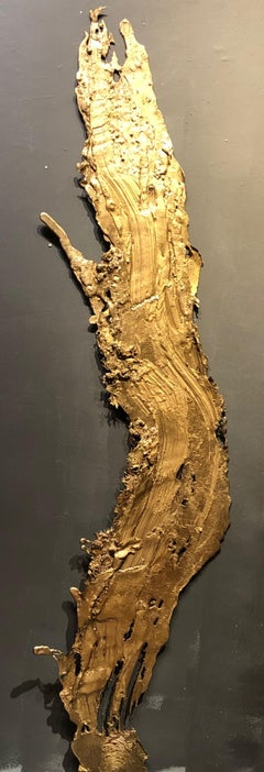 Linda Cunningham, Altered Currents 3, Sand-Cast Bronze Natural Patina, 2016-2018
