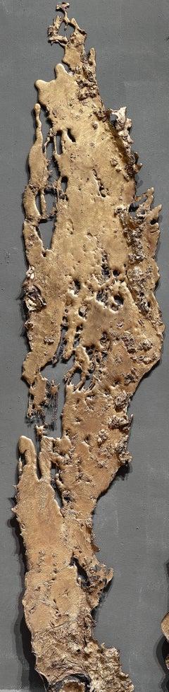 Linda Cunningham, Altered Currents 4, Sand-Cast Bronze Natural Patina, 2016-2018