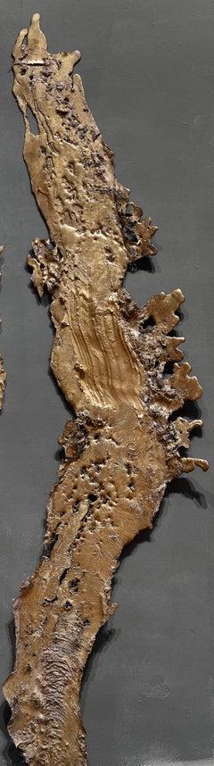 Linda Cunningham, Altered Currents 5, Sand-Cast Bronze Natural Patina, 2016-2018