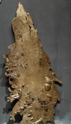 Linda Cunningham, Altered Currents 8, Sand-Cast Bronze Natural Patina, 2016-2018