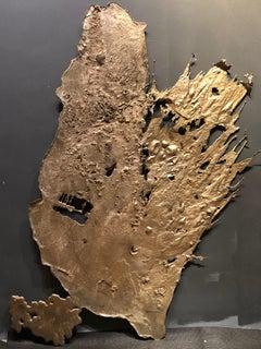 Linda Cunningham, Altered Currents 9, Sand-Cast Bronze Natural Patina, 2016-2018