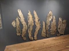 Linda Cunningham, Altered Currents, Sand-Cast Bronze Natural Patina, 2016-2018