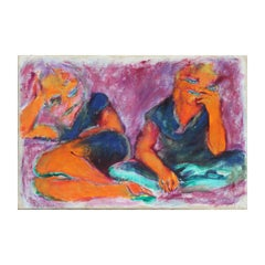 """Why Not Ask For More?"" Figurative Abstract Expressionist Painting"