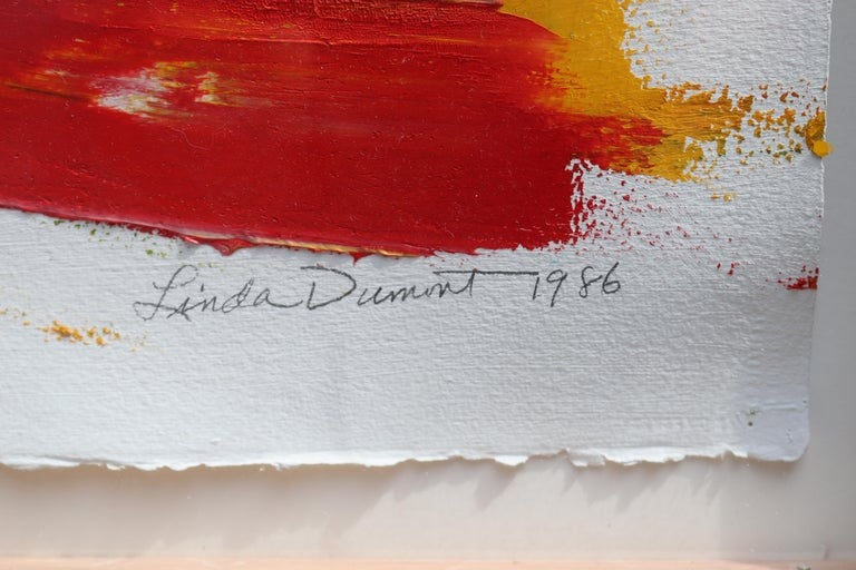 Abstraction in Love #2 - Abstract Expressionist Painting by Linda Dumont