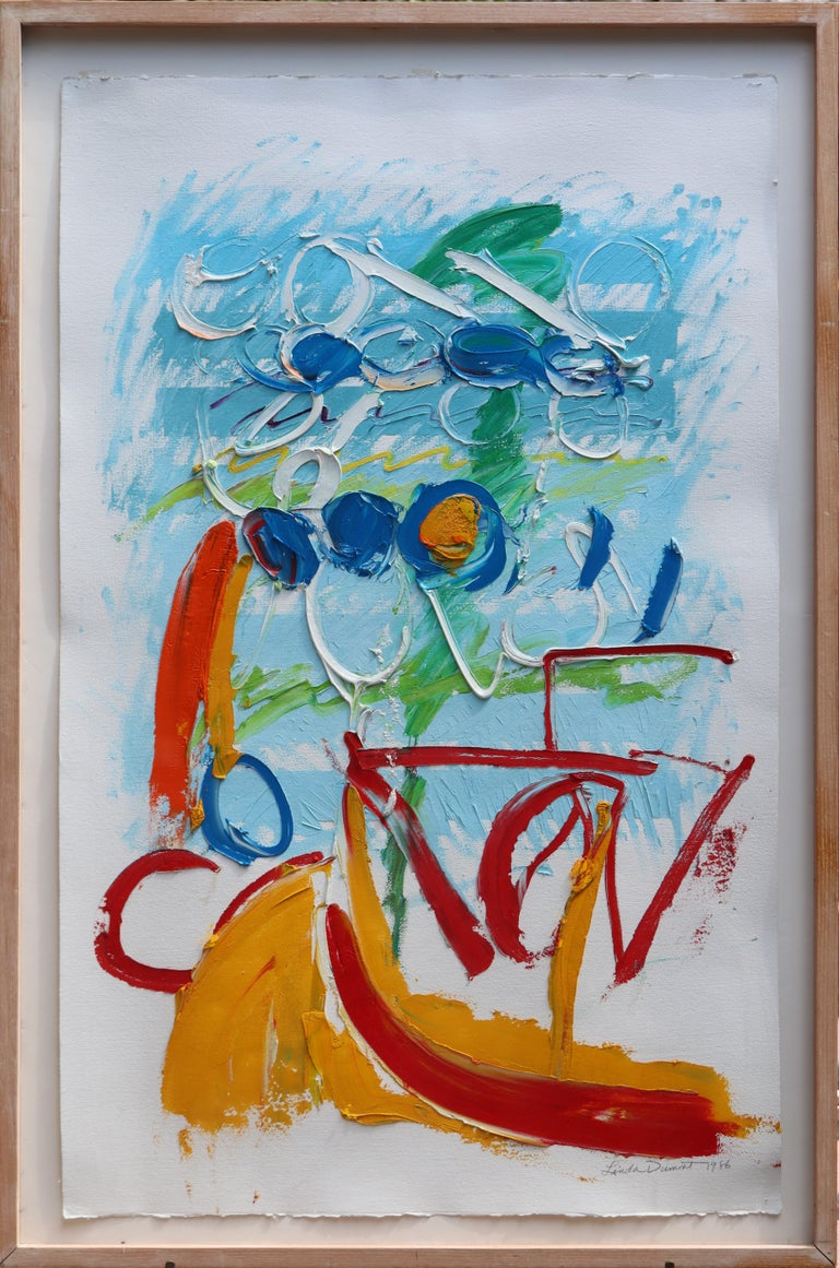 Abstraction in Love #2 - Painting by Linda Dumont