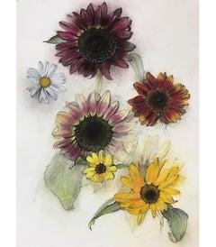 Sunflowers and Daisy