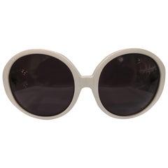 Linda Farrow Luella Style white black lens sunglasses