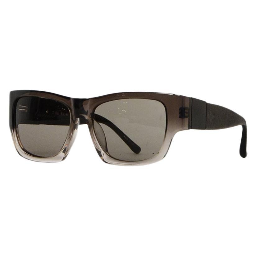 Linda Farrow x The Row Men's Black/Grey Ombre Square Tinted Sunglasses