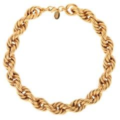 Linda Femarjo handmade gold tone necklace NWOT