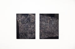Stratum Diptych - Contemporary Encaustic Painting (Blake + Grey)