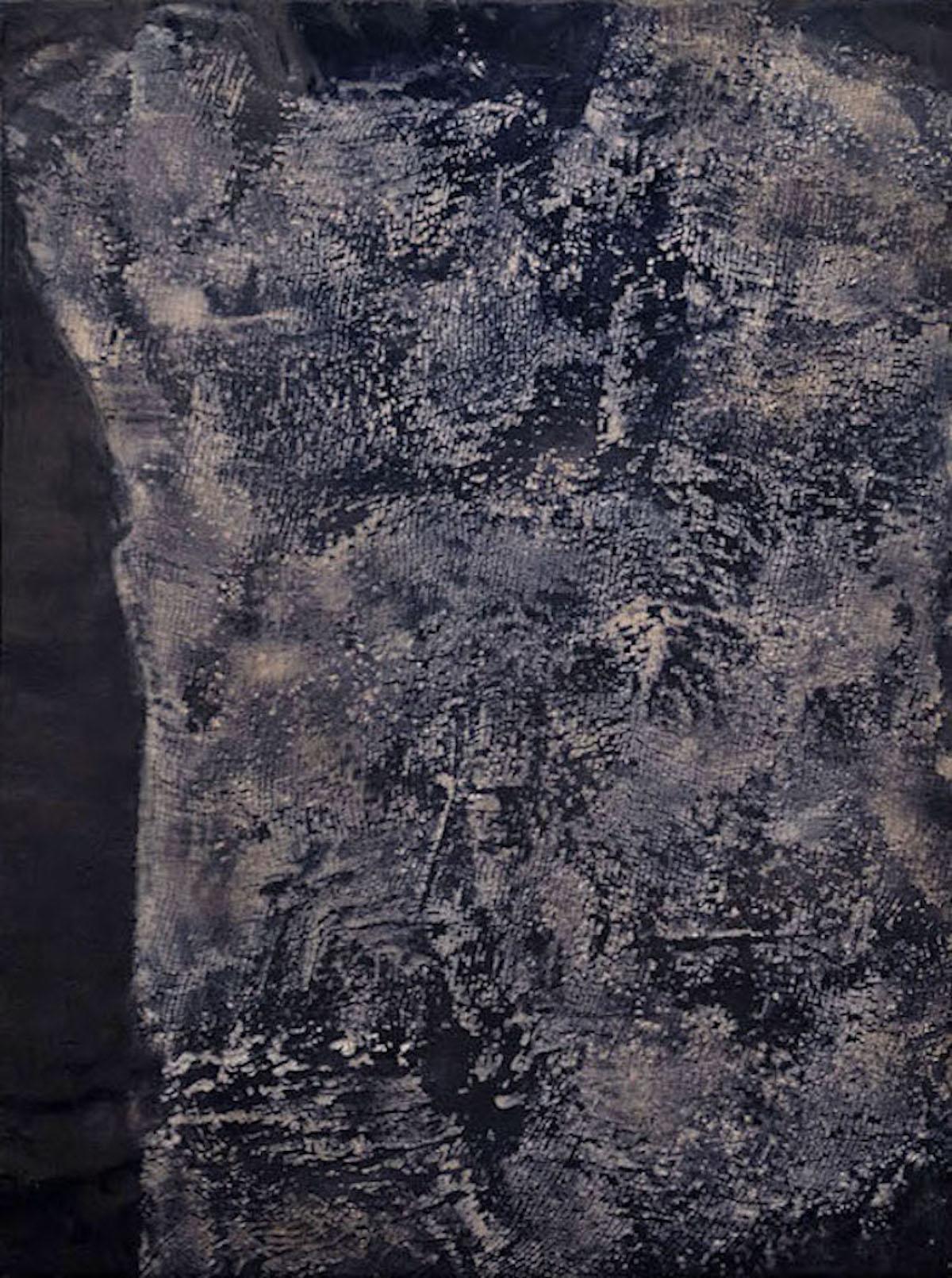 Stratum III - Contemporary Encaustic Painting (Blake + Grey)