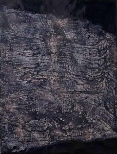Stratum IV - Contemporary Encaustic Painting (Black + Grey)