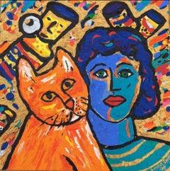 Woman with Orange Cat