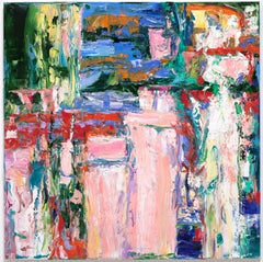 """Large Abstraction, Pink, White, Blue, Green, Yellow and Green"""