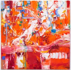 """Larger Abstraction, Orange Red"""