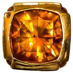 Linda Joslin Madera Citrine 18.93 Carat Ring with Citrines 1.73 Carat 18K Gold