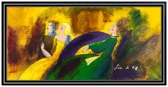 Linda Le Kinff Original Painting Modern Cubism Portrait Oil On Canvas Signed Art