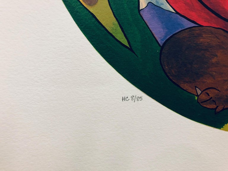(Title Unknown) Limited Edition Serigraph, Signed by Artist - Print by Linda Le Kinff