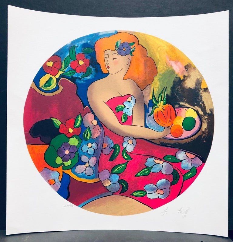 (Title Unknown) Limited Edition Serigraph, Signed by Artist For Sale 1