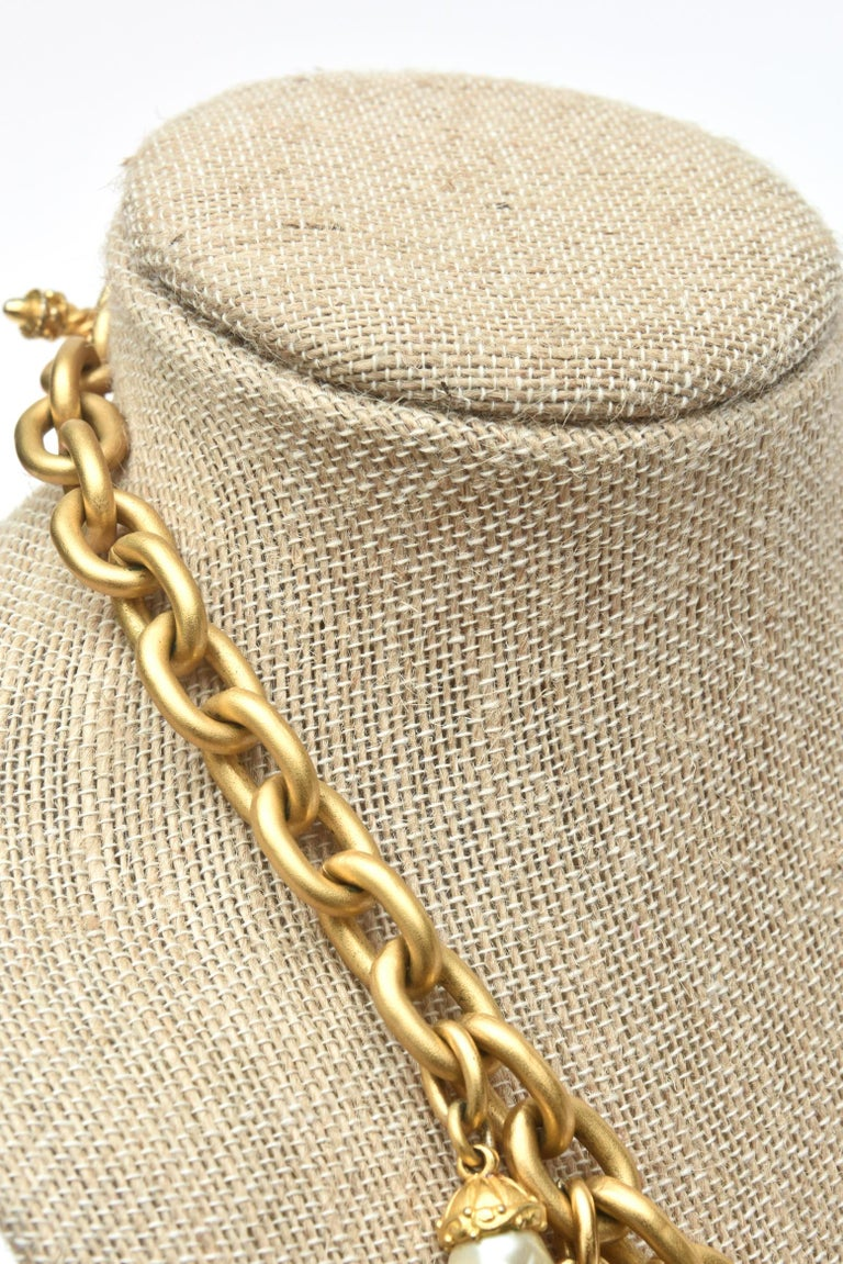 Linda Levinson Roman Fab Coin Dangle Chain Necklace Signed Vintage For Sale 5