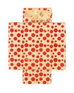 Kusama, red polka dot color field still life photograph, 2016