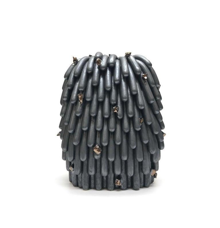 <i>Asphalt Husky Dust Furry with Rocks #2</i>, 2018, by Linda Lopez, offered by Mindy Solomon Gallery