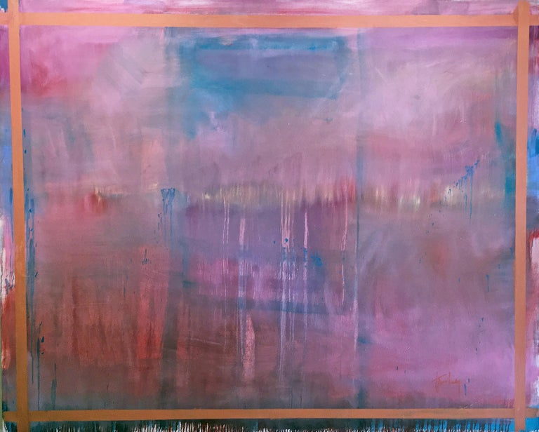 Linda Touby Abstract Painting -  Je T'aime 6