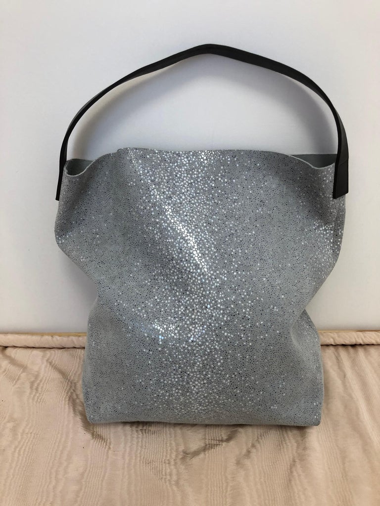 Gray Linde Gallery St Barths Milou Hobo Bag by C and F Linde.  Made in France  For Sale