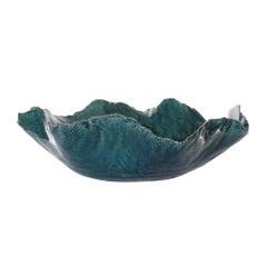 Linden Bowl in Blue Ceramic by CuratedKravet