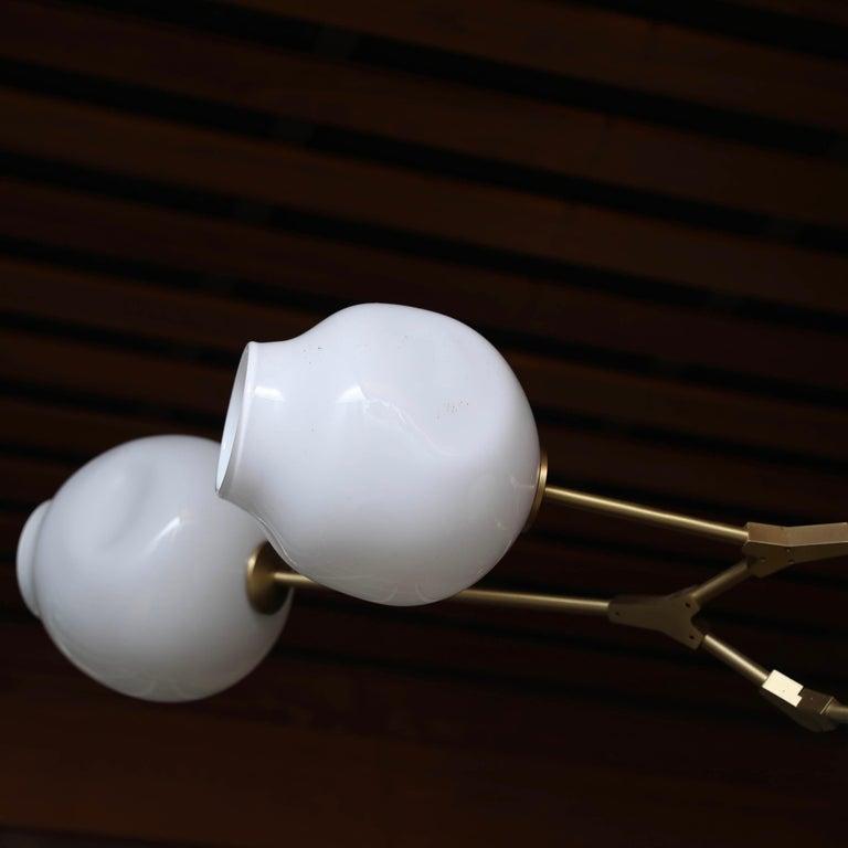 Brass Lindsey Adelman 5 Globe Branching Bubble Chandelier