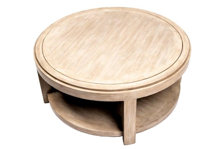 Wood Lindsey Coffee Table/Ottoman For Sale